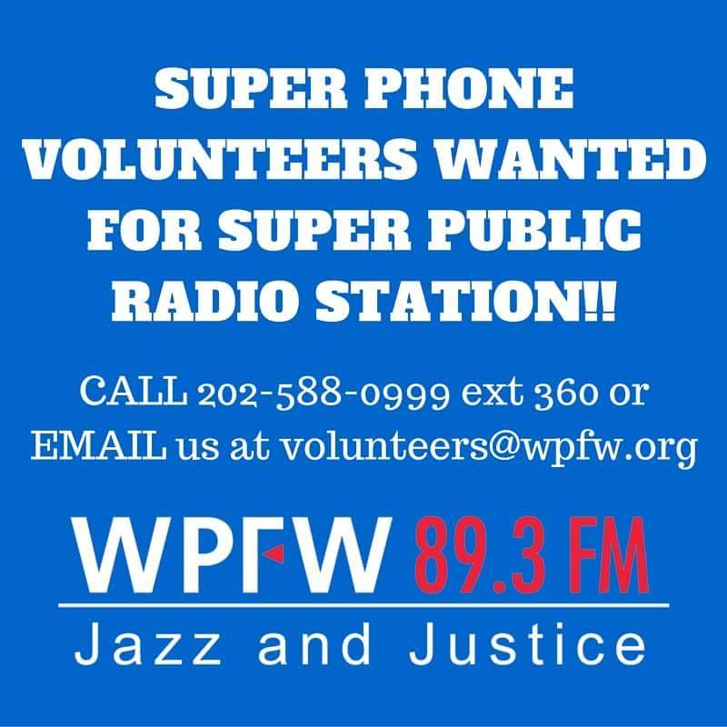 SUPER PHONE VOLUNTEERS WANTED FOR SUPER PUBLIC RADIO STATION