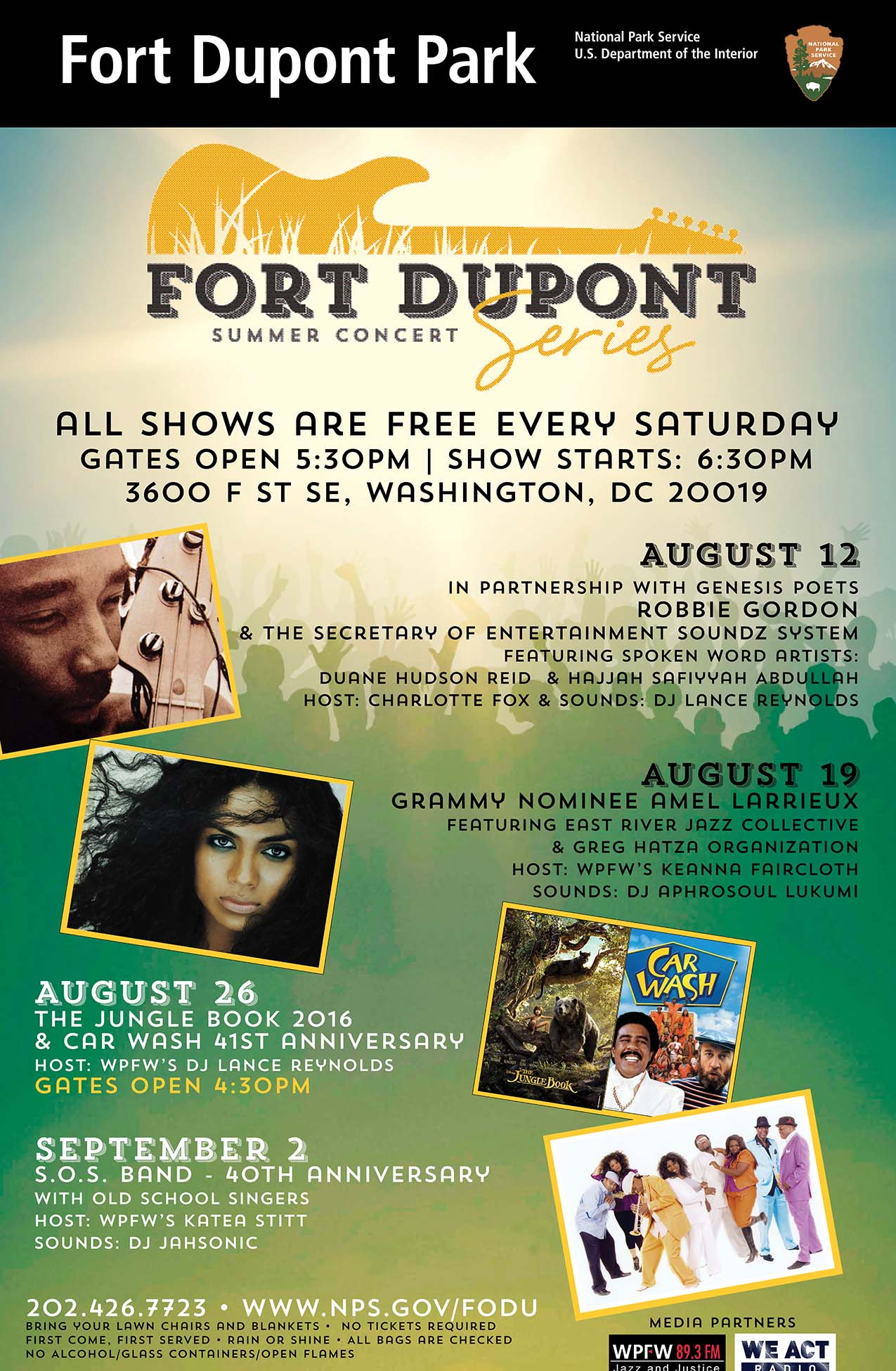 fort dupont all shows poster web